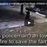 Hero cop saves a woman and her three children after their father opens fire on them